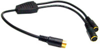 S-Video Y splitter adapter cable, female to two females