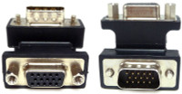 Right Angle VGA Adapter, low profile female to male