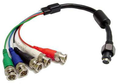 EZ Install to 5-BNC male connector pigtail. Calrad 55-614-EI-BNC
