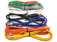 RCA patch cable kit, 3 feet long, 8 cables per package.