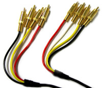 4 RCA plug to 4 RCA Plug dual stereo patch Cable, 6 feet long , Gold plated connectors