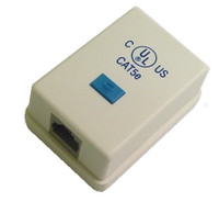 Cat5e connector surface mount box