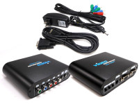 VGA to Component Video Converter and Scaler package includes cables
