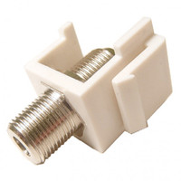 """F"" Keystone Jack Insert, 1GHz in Ivory or White"