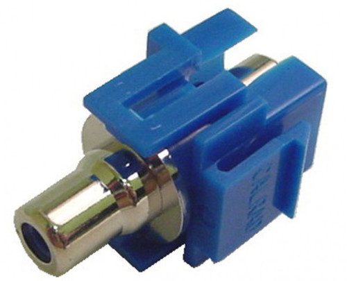 RCA Recessed Keystone jack, Feed-Thru female to female connections