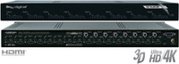 8x8 HDMI Matrix Switcher, Audio De-embedder to Coaxial Digital and Analog L/R, supports Ultra HD/4K. Key Digital KD-8x8CSK