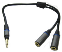 mini plug headphone splitter adapter cable
