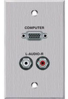 Panelcrafters VGA, Duplex RCA Audio pass through Wallplate