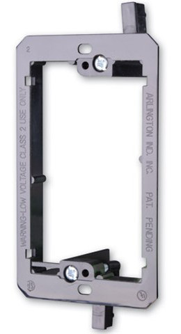 PVC Low Voltage Mounting Bracket, single gang