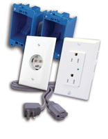 In-Wall Power Solution for Wall Mounted HDTV with Surge Protection