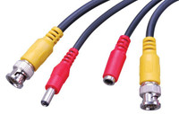 Pre-Made Siamese CCTV Security Cable, RG-59 with Power and Video Connectors