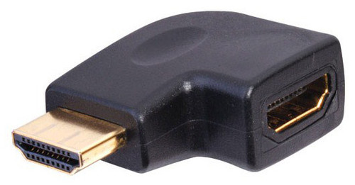 HDMI right angle Adapter - Vertical Flat Left