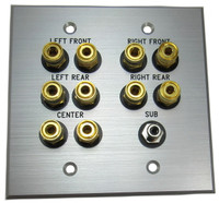 Custom 5.1 Speaker and Sub Woofer Wall plate