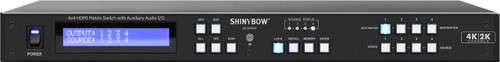 Shinybow SB-5645AK 4x4 HDMI UHD 4K2K Matrix Routing Switch, front