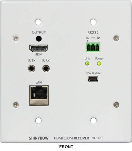 Shinybow SB-6351R HDMI HDBaseT Wall Plate RECEIVER with PoH