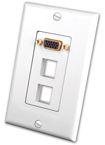 S-VGA Wall Plate Insert with Dual Keystone Ports
