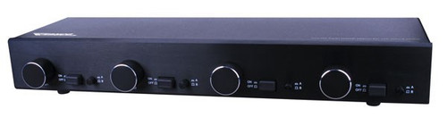 Two Amplifier, Four Pair Stereo Speaker Selector Box with Volume Controls