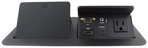 Square Dual Table Box with HDMI, VGA, Audio, LAN and Power