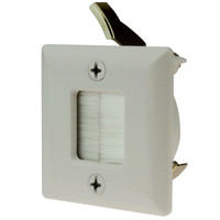 Hole Saw Plate, White, for in-wall cable management