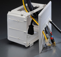 Recessed Media Box, Flush, for low voltage cables.