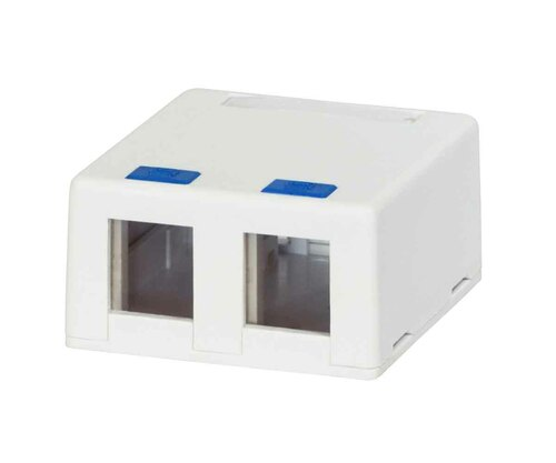2-Port Keystone Jack Surface Mounting Box