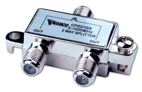 1 GHz CATV Signal Splitter, 2 way