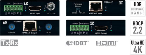 Key Digital KD-X222PO Power over HDBaseT HDMI via Single CAT5e or Cat6 Cable Extension set