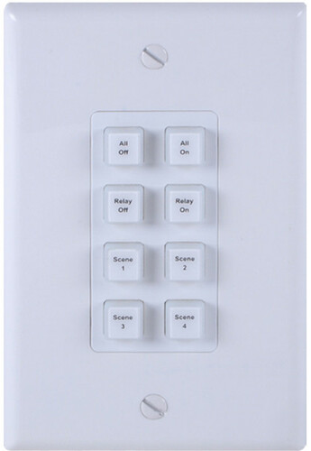 A-Neuvideo ANI-8WP 8-Button Programmable Illuminated IP Wall Plate