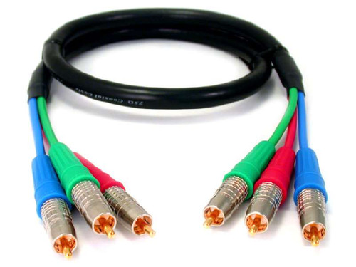 Component Video Cable with 3 Canare RCA's and Canare V-3CFB Cable