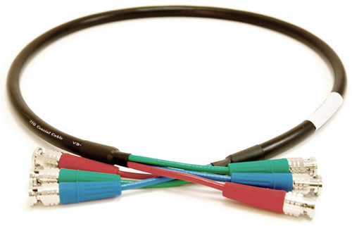 Canare V-3CFB Component Video Cable with Canare RCA's to BNC's