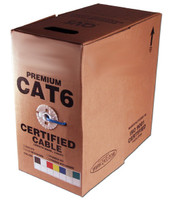 Cat6 Solid Plenum Bulk Cable, 1000 feet, Gray