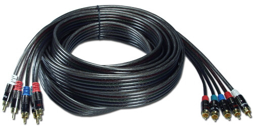 Component Video Cable with audio, 100 feet long, 5 RCA connectors
