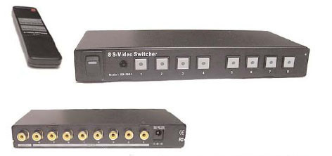 8X1 Composite video Switcher with IR remote control, Calrad 40-918
