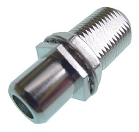 "F to RCA coupler for mounting in 3/8"" hex style hole"