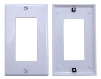 White plastic Designer Style Wall plate