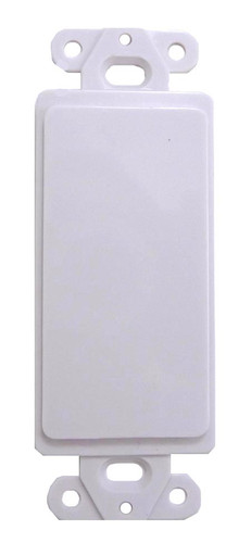 """White plastic """"Designer Style"""" Blank insert plate includes mounting hardware"""
