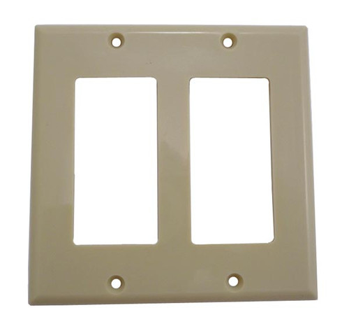 double gang wall plate cover ivory