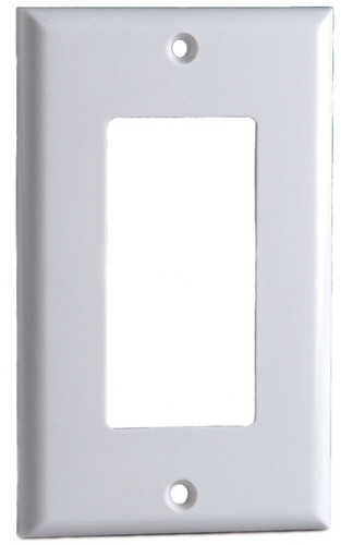 Designer Style Wall Plate Surround, Single Gang, in White