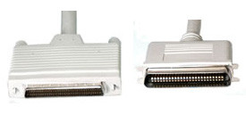 HD68 to CN50 SCSI Cable, with high Byte Termination, 3 feet long