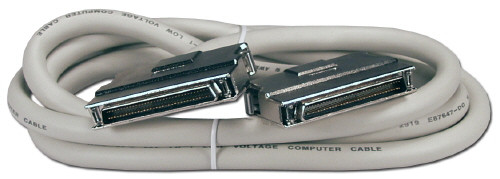 SCSI Cable, 3 Feet Long, HD68 male to male
