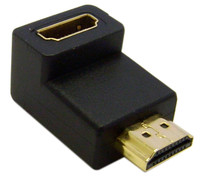 HDMI Right Angle Adapter, HDMI Male to HDMI Female, 90 Degree Adapter