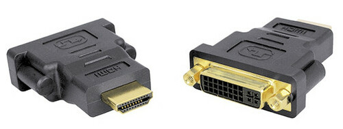 Gold Plated Female DVI to Male HDMI Adapter