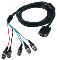 VGA to 5 BNC Cable, HD15 VGA Connector to 5x BNC Connector Cables for RGB/HV or RGB Monitors