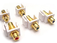 RCA connector Keystone jack insert, gold