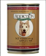 Addiction Venison & Apples Dog Canned Food