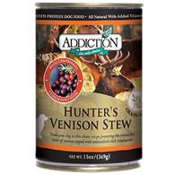 Addiction Hunter's Venison Stew Dog Canned AD1041