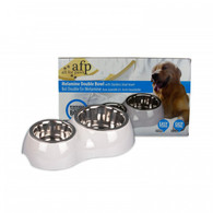 All For Paw Melamine Double Set with Stainless Steel Bowl