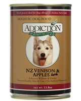 Addiction NZ Venison and Apples Dog Canned