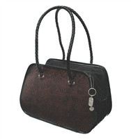 Faux Leather Rounded Tote Bag