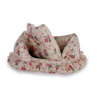 All For Paws Shabby Chic Bolster Bed Medium Cream